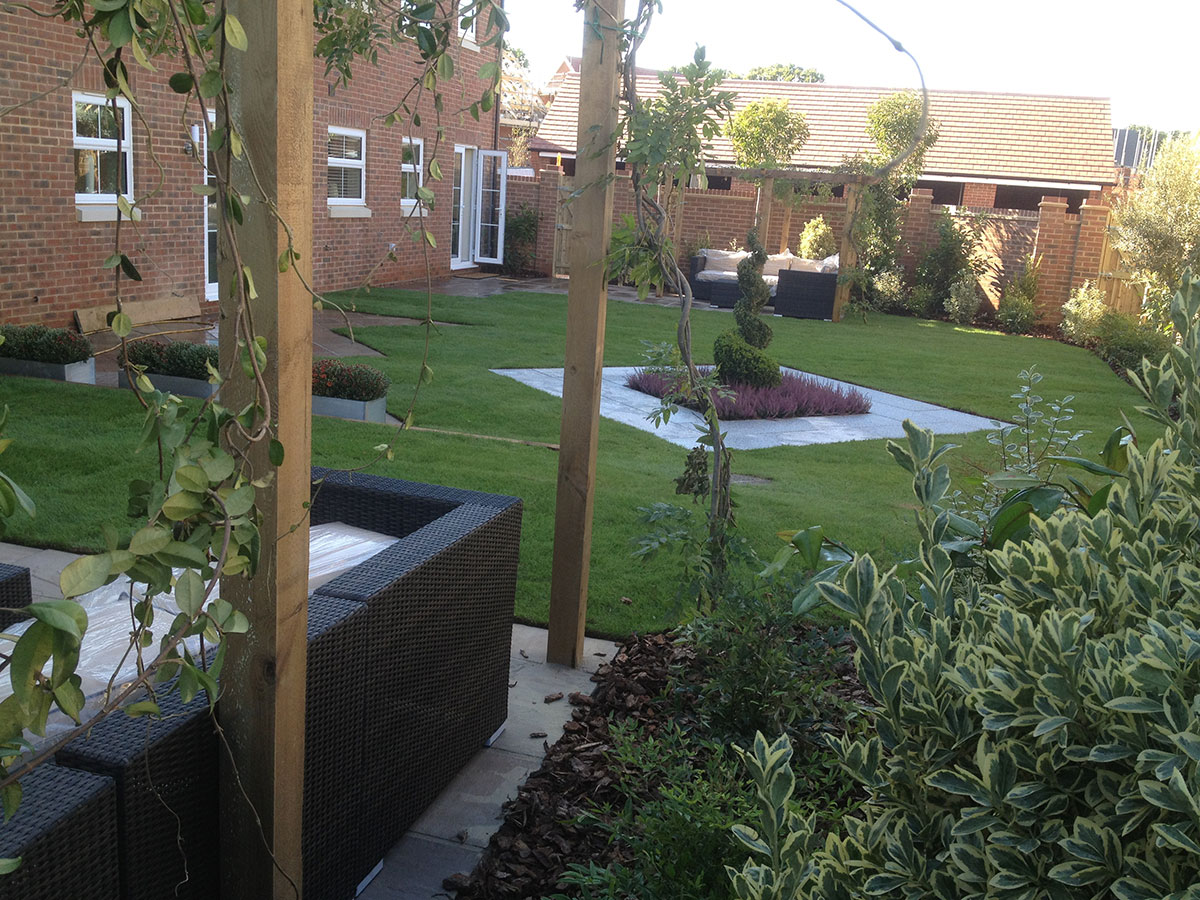 Showhome landscaping for new build developments