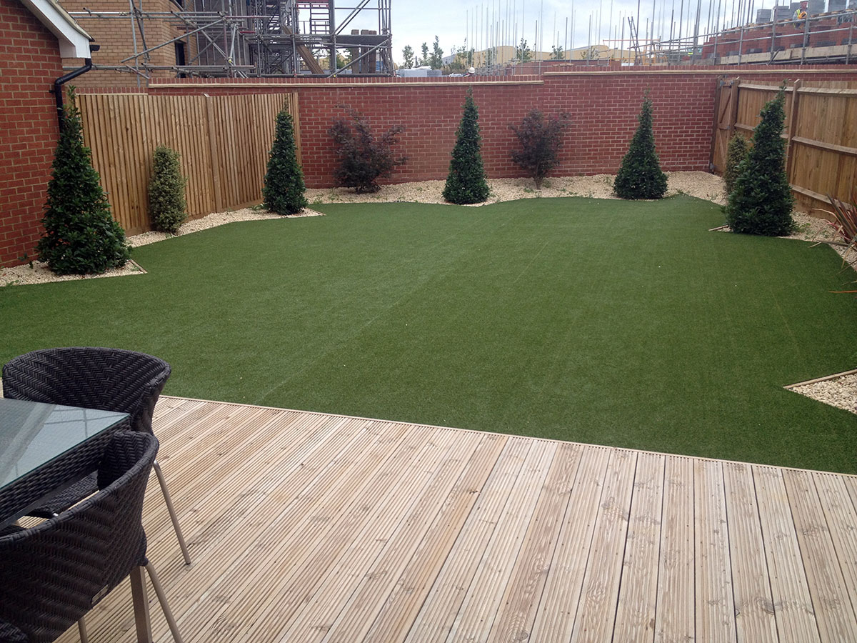 Astro turf laying for residential gardens
