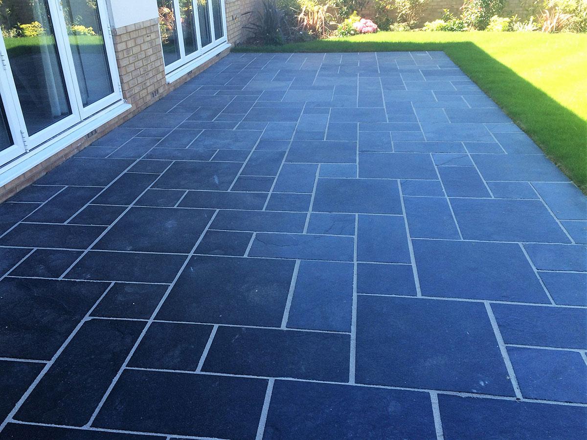 Limestone patio slabs