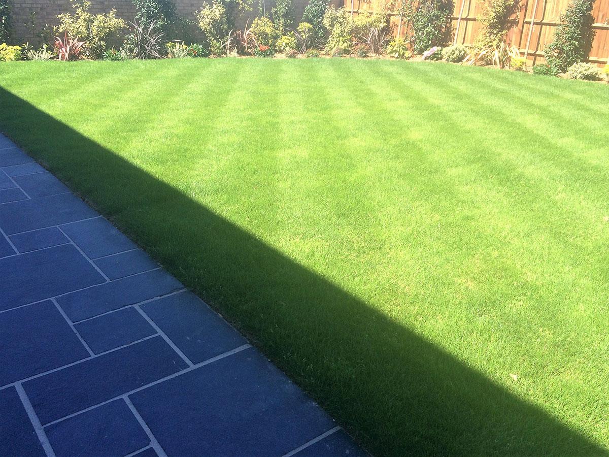 Garden turf laying