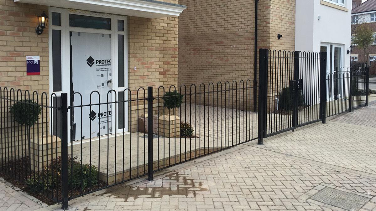 Metal railings for show homes
