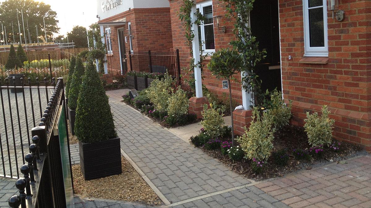 Metal railings for show home gardens